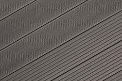 BPC Hohlkammerdiele WoodoIbiza, 25 x 145 mm, anthrazit, 4,00 m lang