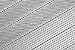 BPC Hohlkammerdiele WoodoIbiza, 25 x 145 mm, grau, 4,00 m lang