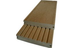 BPC Massivdiele WoodoSaba, 20 x 145 mm, dunkelbraun, 5,00 m lang