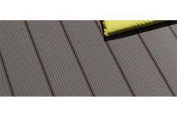 WPC Terrassendiele, coextrudiert, grau, Hohlkammerdiele, 22 x 143 mm, Länge 3 m