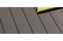 WPC Terrassendiele, coextrudiert, grau, Hohlkammerdiele, 22 x 143 mm, Länge 4,2 m