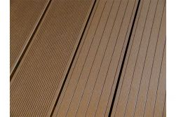 BPC Hohlkammerdiele WoodoElba,  22 x 140 mm, 4 m lang, dunkelbraun, beidseitig begehbar