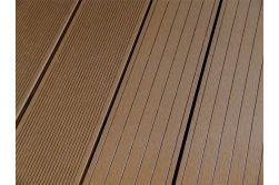 BPC Hohlkammerdiele WoodoElba,  22 x 140 mm, 2,9 m lang, dunkelbraun, beidseitig begehbar