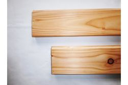 Lärche / Douglasie Pferdestallbohlen, 32 x 135 mm, allseitig gehobelt, 10 mm Nut gefast und gekappt, mit Nut und Feder, auf Wunschlänge gekappt, Deckmaßberechnung, Längen auf Anfrage