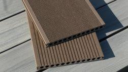 BPC / WPC Hohlkammerdiele WoodoMallorca, 25 x 250 mm, dunkelbraun, 2. Wahl, Mengen und Längen n. Absprache