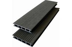 WPC Hohlkammerdiele WoodoCapri 24 x 140 mm, anthrazit, 3 m lang, beidseitig begehbar, 2. Wahl / Restposten, Mengen nach Absprache