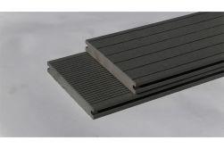 BPC Massivdiele WoodoAthen, 19 x 140 mm, beidseitig begehbar, geriffelt / glatt, grau, in der Länge 2,9 m