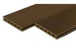 BPC Hohlkammerdiele WoodoElba,  22 x 140 mm, 4 m lang, sandfarbend, beidseitig begehbar