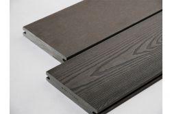 BPC Massivdiele, 20 (Stärke) x 120 mm (Breite), einseitig glatt gebürstet / einseitig Holzoptik, anthrazit, 4 m
