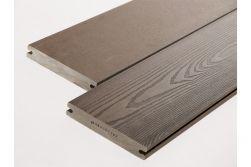 BPC Massivdiele, 20 (Stärke) x 120 mm (Breite), einseitig glatt gebürstet / einseitig Holzoptik, braun, 4 m