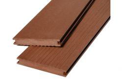 WPC Massivdiele WoodoMadeira, 20 x 140 mm, 4 m lang, dunkelbraun, geriffelt / glatt, beidseitig begehbar, 2. Wahl / Restposten Mengen nach Absprache