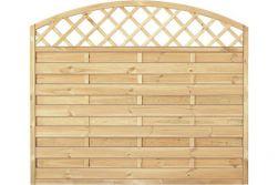 Sichtschutzzaun Holz Bogen mit Gitter  Kiefer/Fichte 180 x 150/130 cm (Serie Baltrum)