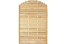 Sichtschutzzaun Holz Bogen Kiefer/Fichte 120 x 180/160 cm (Serie Baltrum)