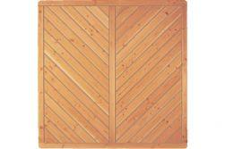 Sichtschutzzaun Holz Douglasie Vollelement 180 x 180 cm (Serie: Doben)