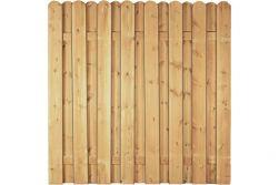 Sichtschutzzaun Holz Kiefer/Fichte 180 x 180 cm (Serie Eversten)