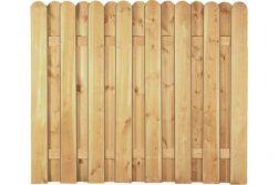 Sichtschutzzaun Holz Kiefer/Fichte 180 x 150 cm (Serie Eversten)