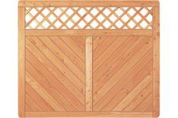 Sichtschutzzaun Holz Lärche Gitter 180 x 150 cm (Serie Pöhl)
